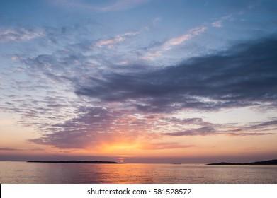 Sun set at the Swedish west coast