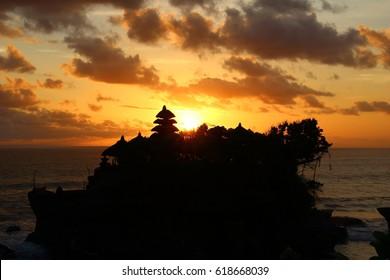 Sun set at Tanah Lot Temple