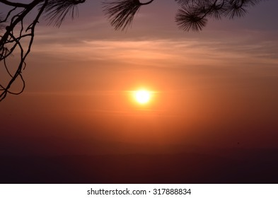 The sun sets in the evening