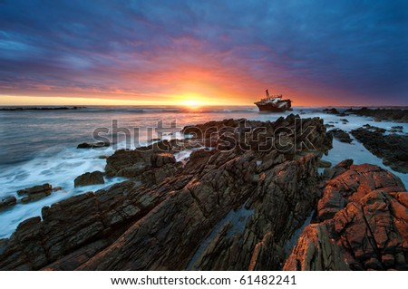 The Sun Sets on the scene of the 1982 Meisho Maru Wreck at Cape Agulhus