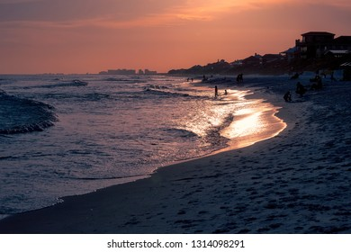 Sun Setting on Destin Beach, Florida
