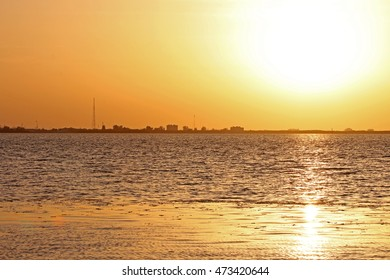 The Sun Setting at Picnic Park in Tampa, Florida