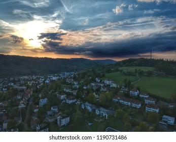 Sun setting - Winterthur, Switzerland 2018
