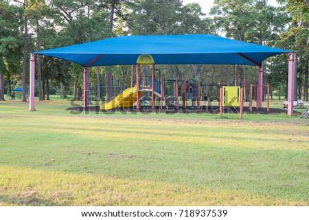Sun Shade Playground Grassy Public Park Stock Photo Edit Now