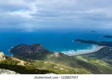 sun shining through the clouds at Mount Oberon Summit Walk and Lookout, Wilsons Promontory National park
