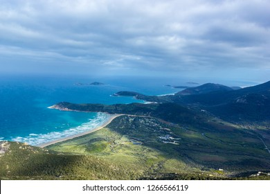 sun shining through the clouds at Mount Oberon Summit Walk, Wilsons Promontory National park