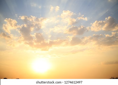 Sun and sky. Background. Clouds
