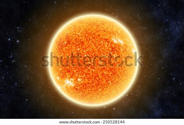 Солнце в космосе - Элементы этого изображения, меблированные Nasa