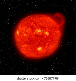 Sun and stars. The elements of this image furnished by NASA.