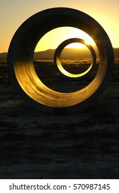 Sun Tunnels at Summer Solstice, Utah