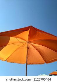 sun umbrella, beach, sky