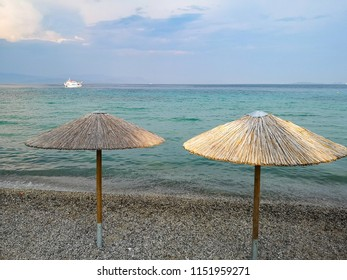 sun umbrellas on the beach