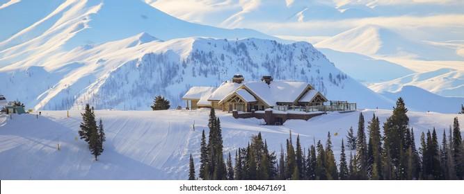 Sun Valley downhill skiing in Idaho