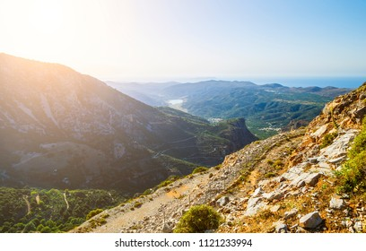Sun valley of Greece. Lassithi Plateau on island of Crete, Greece.