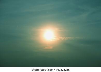 The sun is very beautiful