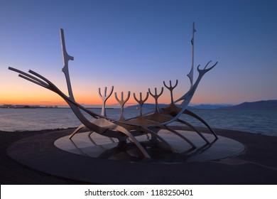 The Sun Voyager. Reykjavík, Iceland. 14 September 2018
