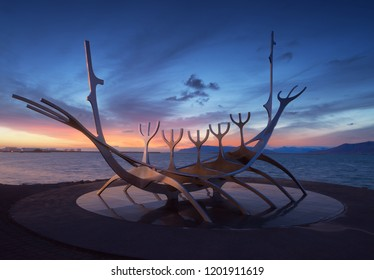 The Sun Voyager. Photo manipulation. Reykjavík, Iceland. 14 September 2018