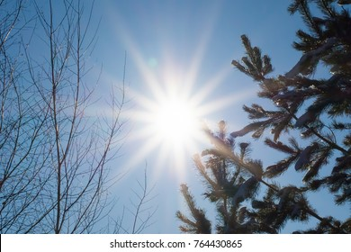 sun at the winter solstice