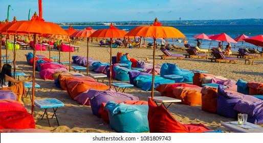 Sunbathing at Kuta Beach Bali