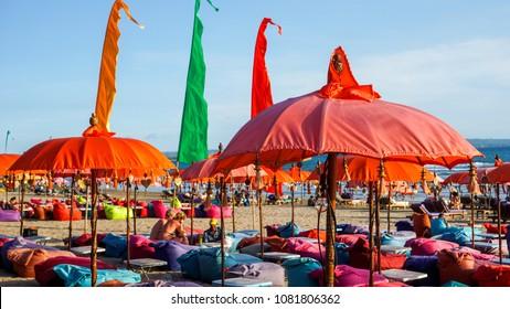 Sunbathing at Kuta Beach Bali Indonesia