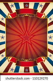 sunbeam poster with star. A large red frame with sunbeams for your message
