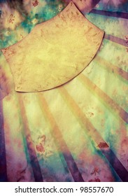 Sunbeam retro paper background with grunge frame for text