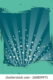 Sunbeams and stars on an abstract background illustration