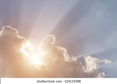 Sunbeams through the cloud