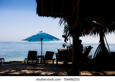 Sun-bed by the sea in Gili Air
