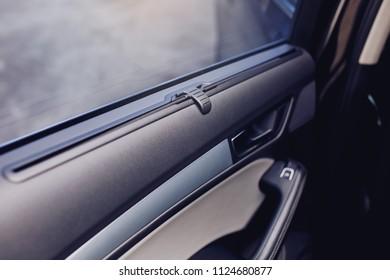sunblind curtain in a modern car