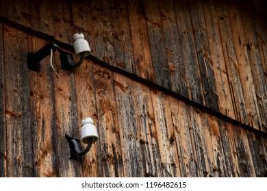 Sunburnt Planks on old farmhouse