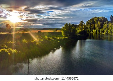 Sunburst over the River