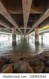 Sundale bridge at Southport, Gold Coast, Queensland. Australia. March 2019