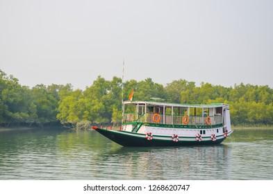 Sundarban travel boat in river