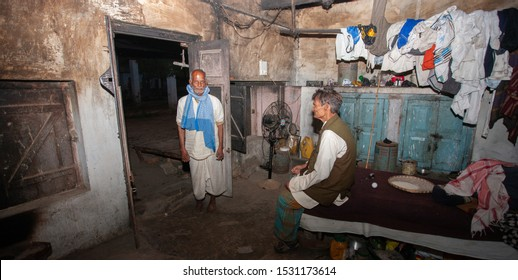 Sundarpur, India - 2013: Unidentified Indian leprosy patients in a rural leprosy colony in Sundarpur, Bihar state, India