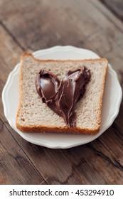 Sunday breakfast. Toast and peanut butter.