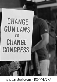 Sunday March 25th,  Los Angeles, California, USA.  One of many marching To make a significant changes to gun laws   In california,