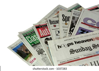 Sunday Morning Newspaper  (with clipping path)