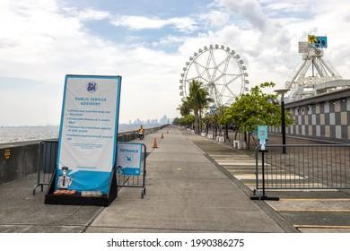 Sunday scenery in Manila By the Bay , Manila, Philippines, Jun 13, 2021