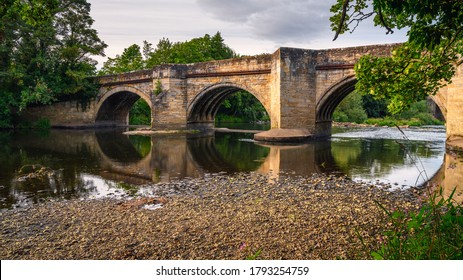 Sunderland Bridge over the River Wear, at Croxdale, a village just south of Durham City in County Durham, England.