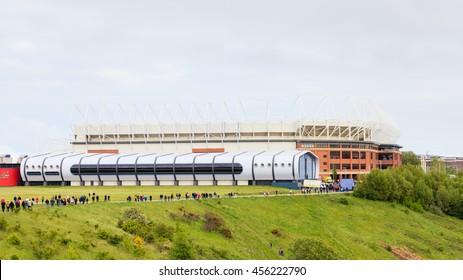 SUNDERLAND, ENGLAND - MAY 27:  The Stadium of Light, home of Sunderland Football Club in Sunderland, England on May 27, 2016.