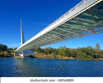 Sundial bridge over the Sacramento river