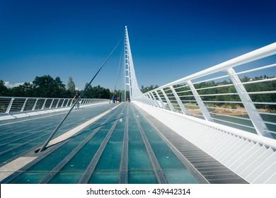 The Sundial Bridge, in Redding, California.