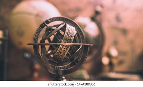 Sundial Pedestal With Zodiac Sign