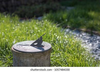 Sundial in the Summer sun