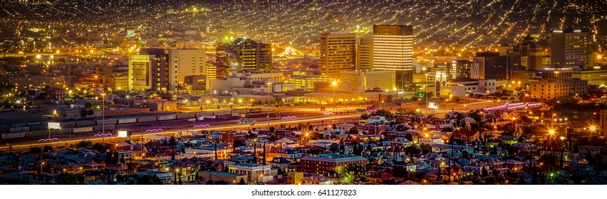Sundown in El Paso, Texas.