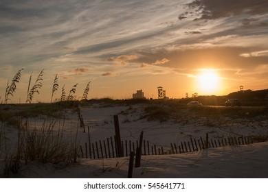 sundown at gulf shores alabama beach