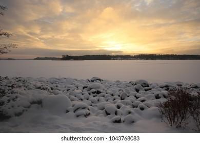 Sundown in Kivenlahti, Espoo
