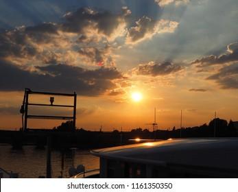 Sundown in Koblenz in HDR optik