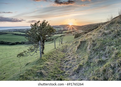 Sundown at Limerstone Down, Isle of Wight